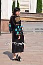Вышитое платье  бохо вышиванка лен, этно, бохо-стиль, черное платье, Bohemian,Платье макси, стиль Вита Кин, фото 6