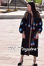 Вышитое платье  бохо вышиванка лен, этно, бохо-стиль, черное платье, Bohemian,Платье макси, стиль Вита Кин, фото 4