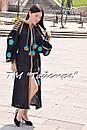 Вышитое платье  бохо вышиванка лен, этно, бохо-стиль, черное платье, Bohemian,Платье макси, стиль Вита Кин, фото 2