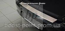 Защитная хром накладка на задний бампер с загибом Fiat Punto 3 (фиат пунто 2010г+)