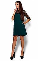 Жіноче коктейльне темно-зелене плаття Angola