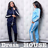 Женский стильный спортивный костюм с лампасами: мастерка и брюки (4 цвета), фото 2
