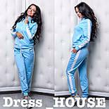Женский стильный спортивный костюм с лампасами: мастерка и брюки (4 цвета), фото 4