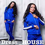Женский стильный спортивный костюм с лампасами: мастерка и брюки (4 цвета), фото 5