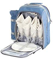 Термосумка - рюкзак с посудой Norfin ESLOV  6л / набор для пикника на 4 персоны /NFL