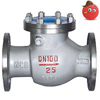 Клапан обратный поворотный 19c16нж стальной Ду 50