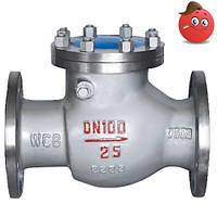 Клапан обратный поворотный 19c16нж стальной Ду 125