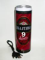 Необычная банка пива «Балтика 9» с радиоприемником и МР3 плеером
