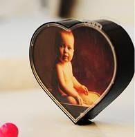 Вращающаяся фоторамка в виде сердца, рамка для фотографий — вращающееся сердце