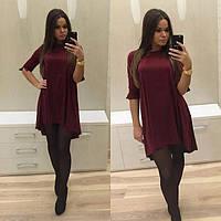 Платье-мини свободного покроя, разные цвета