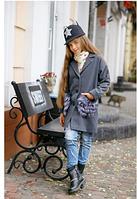 Кашемировое пальто для девочки,р.10-12 лет