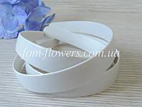 Обруч для волос пластиковый белый, широкий 2,5 см., фото 1