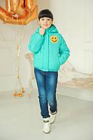 Куртка-жилет для девочки СТЕФАНИ бирюза