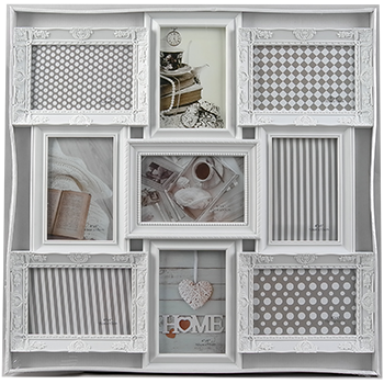 Мультирамка-коллаж на 9 фотографий бронза и белый, фото 2