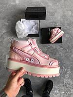 3bc30784a1f5 Кроссовки Puma x Fenty Boots Pink. Живое фото. Топ качество (Реплика ААА+