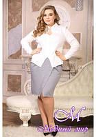 Женская трикотажная юбка большого размера (р. 48-90) арт. Симона