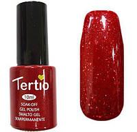 Гель лак Tertio 054 терракотово-красный с мелкой слюдой