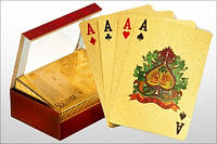 Прикольный подарок Карты игральные «Доллар золотой»