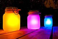 Светильник, необычный ночник «Радуга в банке» подарок для девушки
