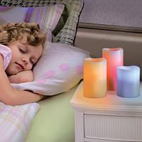 Набор из 3 LED свечей с дистанционным управлением (6», 5», 4»), 12 цветов