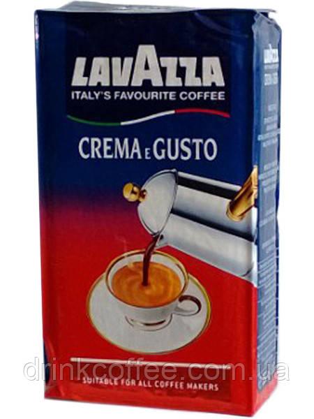 Кава мелена Lavazza Crema e Gusto, 30% Арабіка/70% Робуста, Італія, 250 г
