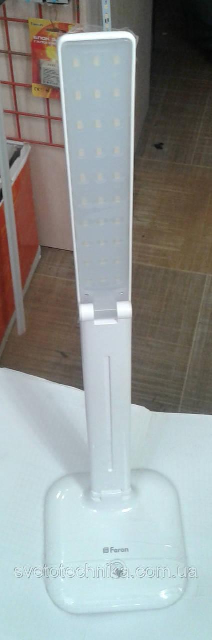 Настольная светодиодная лампа Feron DE1725 9W 4000К