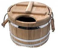 Запарник дубовый для бани 15 л