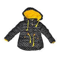 Куртка черно-желтого цвета для девочки, YIXIANG