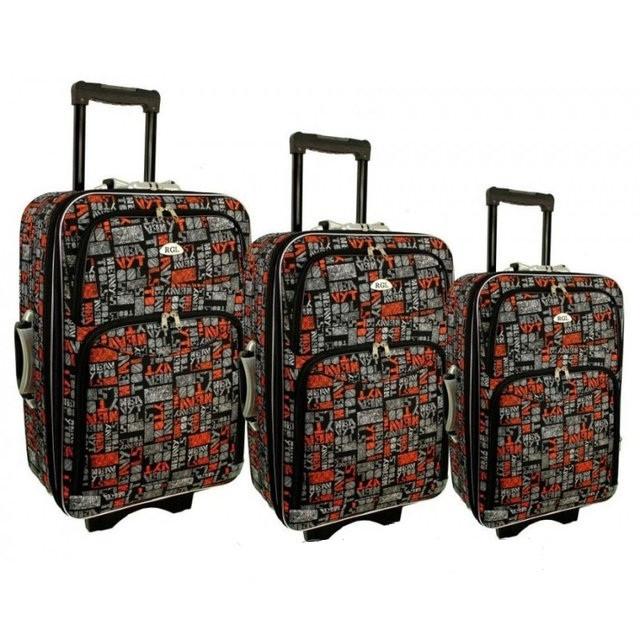 Дорожній чемодан сумка 773 набір 3 штуки kolor 10