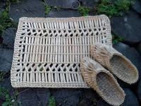 Коврик плетенный из рогозы в сауну