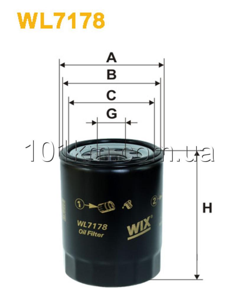 Фильтр масляный WIX WL7178 (OP622)