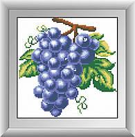 Вышивка камнями Dream Art Виноград (квадратные камни, полная зашивка) (DA-30266) 23 х 23 см