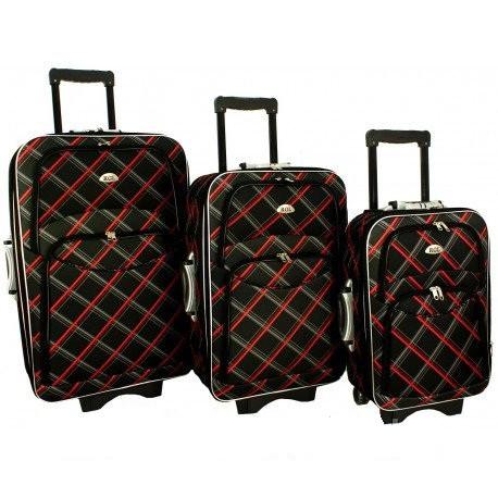 Дорожный чемодан сумка 773 набор 3 штуки черная-карта