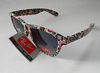 Очки Wayfarer  Ray Ban Солнцезащитные. качественная оправа полный набор