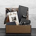 """Подарунковий набір шкіряних аксесуарів для мандрівника """"Дублін"""": тревел-кейс, портмоне, кард-кейс і брелок, фото 4"""