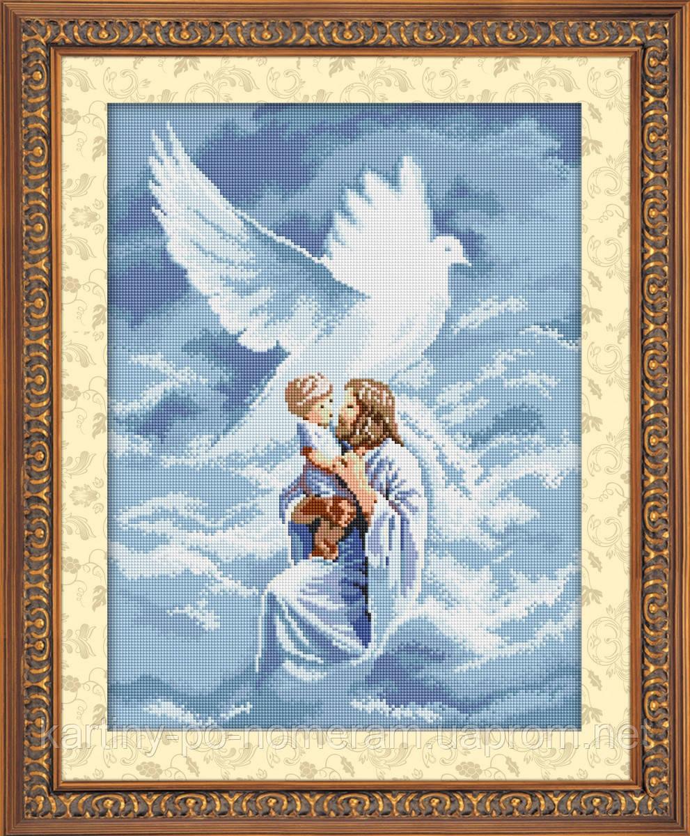 Вышивка камнями Dream Art Святой дух (квадратные камни, полная зашивка) (DA-30423) 42 х 55 см