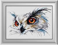 Вышивка камнями Dream Art Филин (квадратные камни, полная зашивка) (DA-30431) 25 х 34 см