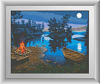 Вышивка камнями Dream Art На берегу (квадратные камни, полная зашивка) (DA-30459) 50 х 62 см