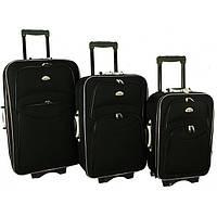 Дорожный чемодан сумка 773 набор 3 штуки черный