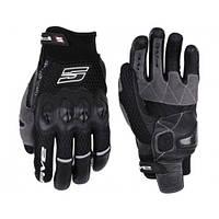 Мотоперчатки FIVE Airflow кожа/текстиль черный S