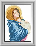 Вышивка камнями Dream Art Богородица (квадратные камни, полная зашивка) (DA-30512) 32 х 44 см