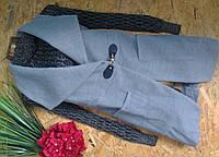 Брендовый кардиган ZARA серый 1798 XL