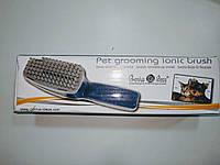 Ионная щетка для вычесования  домашних животных  Pet Grooming Ionic Brush