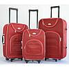 Комплект чемоданов сумка дорожный Bonro набор 3 штуки цвет красный клетка, фото 2
