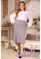 Женская юбка батальных размеров (р. 48-90) арт. Лайза
