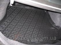 Коврик багажника (корыто)-полиуретановый, черный Nissan Tiida Sd/Hb (ниссан тиида 2004-2014)