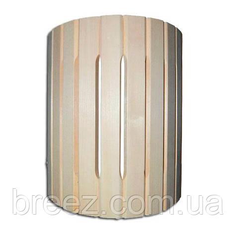 Ограждение светильника полукруглое настенное липа Б, фото 2
