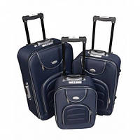 Чемодан сумка Bonro комплект 3 штуки Цвет: темно-синий
