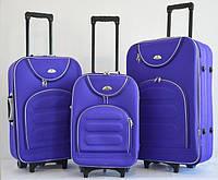 Чемодан Bonro Lux набор 3 штуки фиолетовый