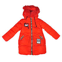 Куртка зимняя красного цвета для девочки, liebiaonake